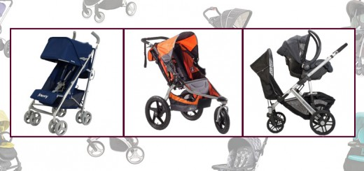 Single, double, and lightweight photo montage, Uppababy Vista, Bob Revolution SE, Britax B Agile, Uppababy G Luxe, Joovy Groove, Baby Trend Snap and Go, Baby Jogger City Select Double, Uppababy Vista Rumble, and BOB Revolution SE Duallie, Stroller