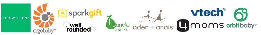 Newton, Ergobaby, Sparkgift, Bundle Organics, Aden + Anais, 4 moms, Orbitbaby