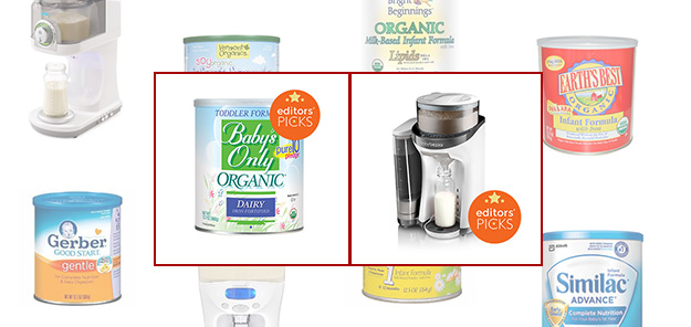 Baby formula photo montage, Baby's Only Organic Formula and Baby Brezza Formula Maker