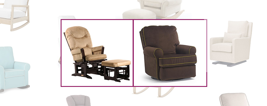 weeSpring baby gear guide rockers and gliders dutailier round back modern cushion glider and Storytyme Tryp rocker and recliner