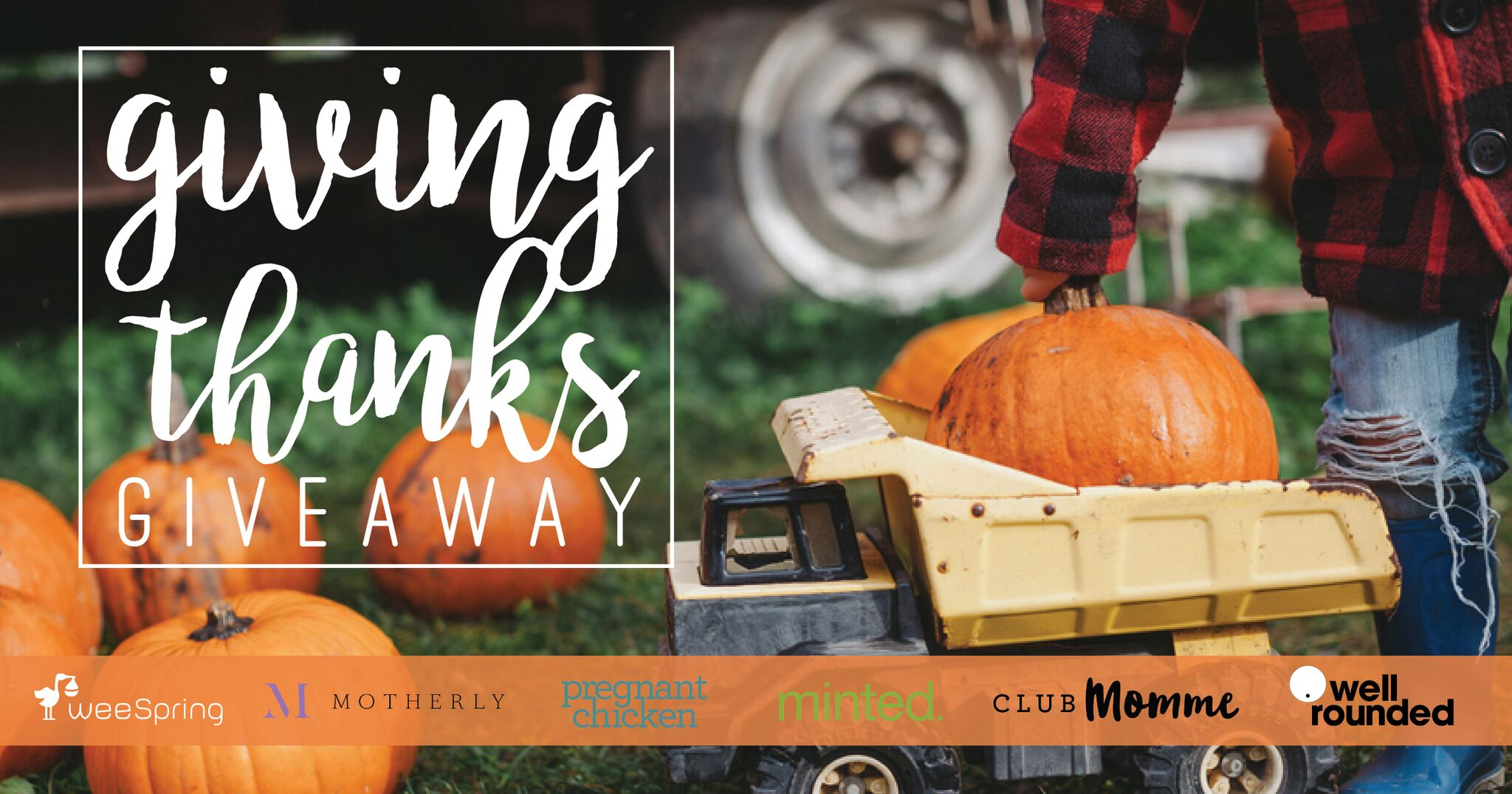 Giving Thanks Giveaway weeSpring, minted, Pregnant Chicken, Mom.me, Motherly, Well-Rounded NY