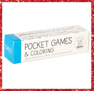 OMY Pocket Games & Coloring, 2016 weeSpring holiday gift guide