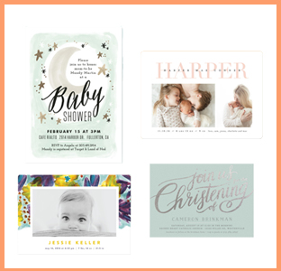 minted gift card for birth announcements, baby shower, weeSpring giveaway