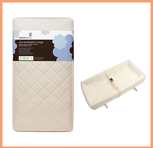 Naturepedic organic crib mattress and changing pad, weeSpring giveaway
