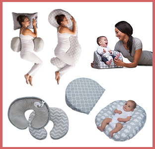 Boppy total body pregnancy pillow, back and bump pillow, feeding chair, pregnancy wedge, nursing pillow and covers, baby lounger, weeSpring giveaway