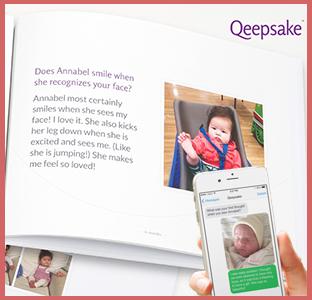 Qeepsake journal book and app membership, weeSpring giveaway