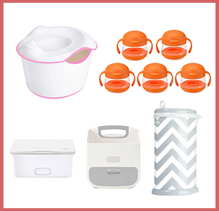 Ubbi diaper pail, diaper caddy, wipes dispenser, potty chair, and snack tweats, weeSpring giveaway