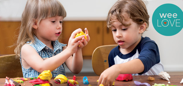 image of children playing with Tutti Fruitti playdough