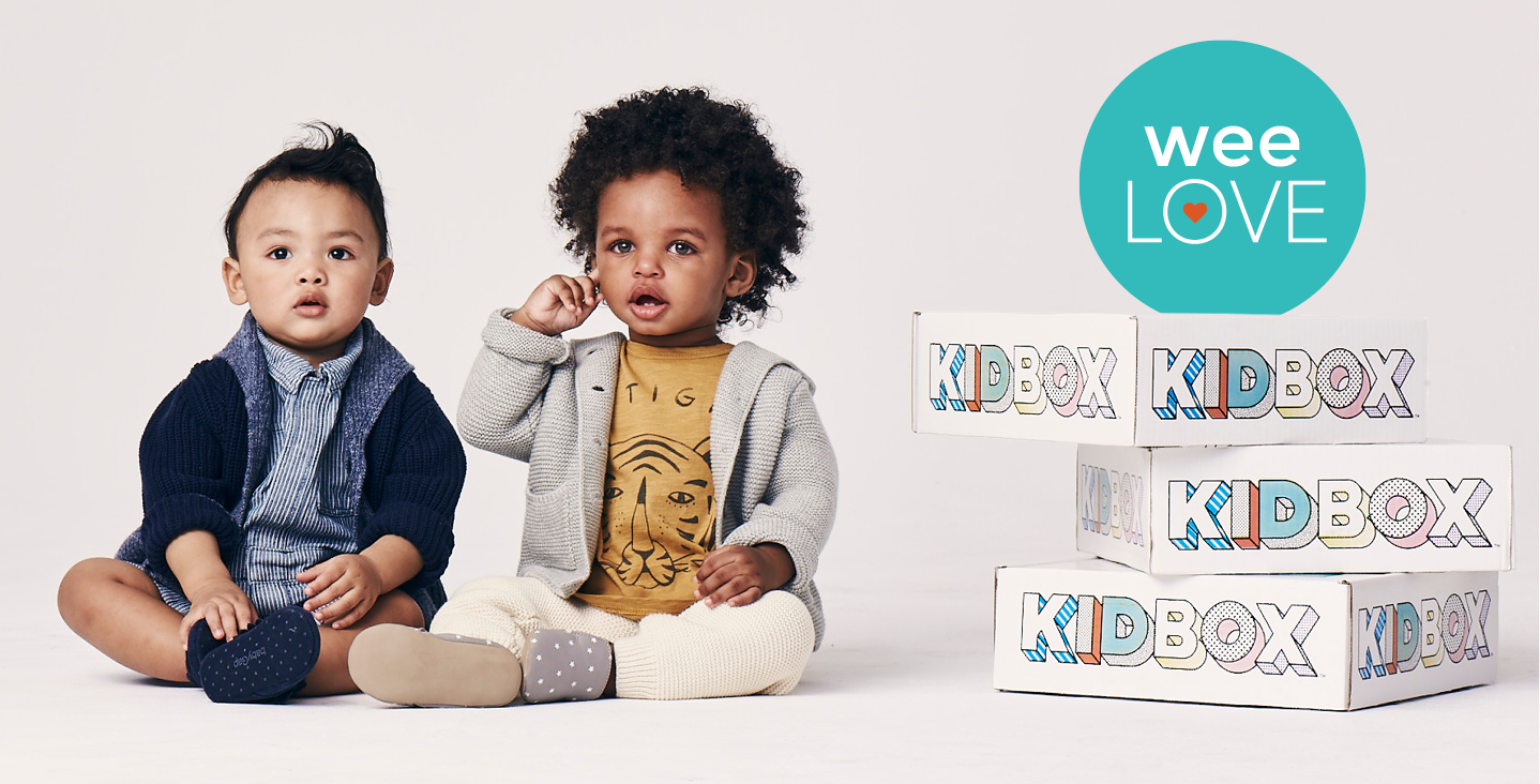 two toddler boys sitting in stylish clothes