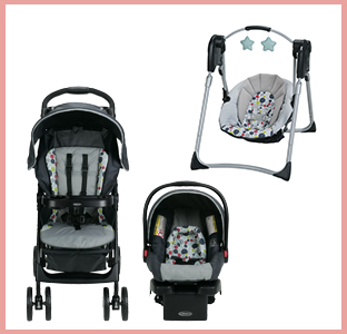 Graco LiteRider LX travel system, Slim spaces baby swing, weeSpring giveaway